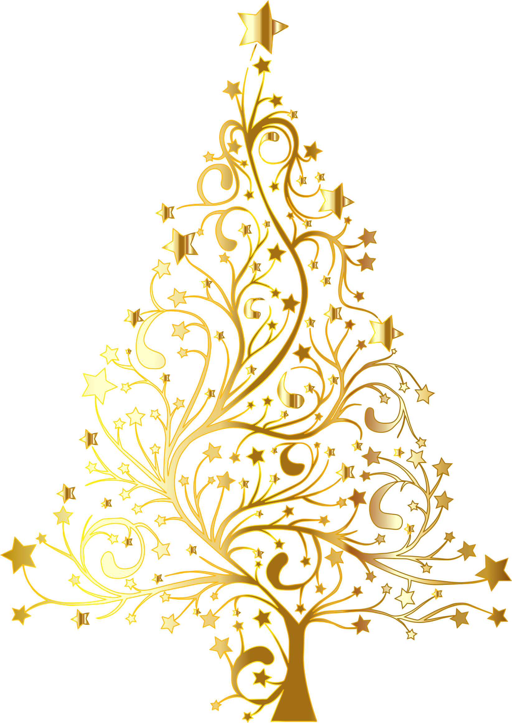 Starry-Christmas-Tree-Gold-No-Background